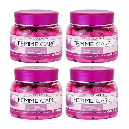 Colágeno Verisol Femme Care - 4x  90 Cápsulas - Unilife