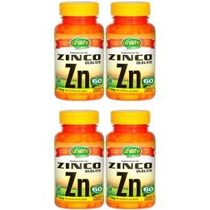 Kit Zinco Quelato Unilife Concentrado Zn 500mg 240 Cápsulas