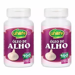 Óleo de Alho - 2 unidades de 100 Cápsulas - Unilife