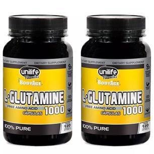 L-Glutamine 1000mg - 2 unidades de 120 Cápsulas - Unilife