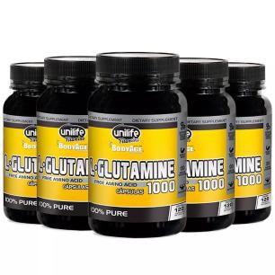 L-Glutamine 1000mg - 5x 120 Cápsulas - Unilife