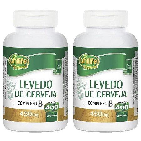 Kit Levedo de Cerveja Complexo B Unilife 800 Comprimidos