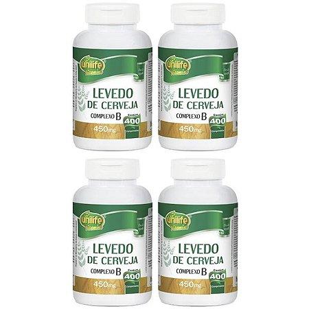 Kit Levedo de Cerveja Complexo B Unilife 1600 Comprimidos