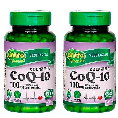 Kit Coenzima Co Q10 Unilife Suplemento 120 Cápsulas