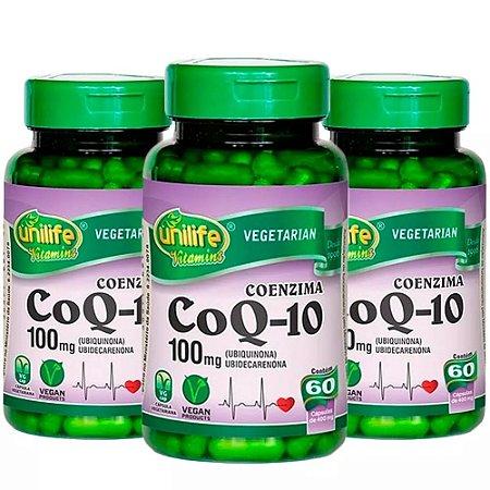 Coenzima Q10 - 3 unidades de 60 Cápsulas - Unilife