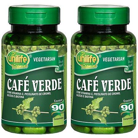 Kit Café Verde Em Cápsulas Unilife Vitamina C 180 Cáps