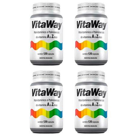Vitaway A Z - 4x 120 cápsulas - Fitoway