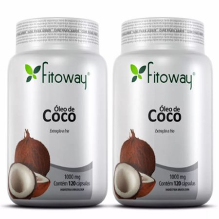 Óleo de Coco -  2x  120 cápsulas - Fitoway
