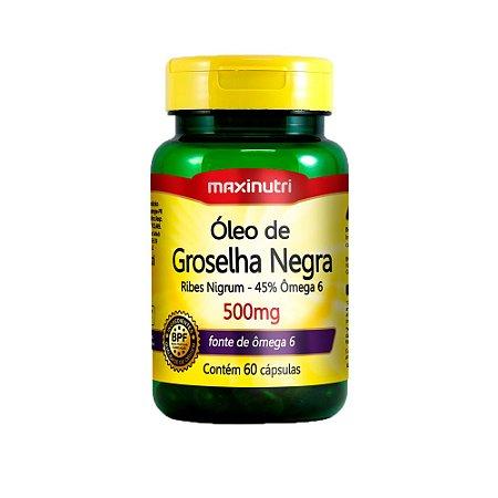 Óleo de Groselha Negra 500mg - 60 Cápsulas - Maxinutri