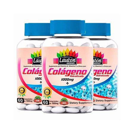 Colágeno Hidrolisado 1000mg - 3x 60 Comprimidos - Lauton