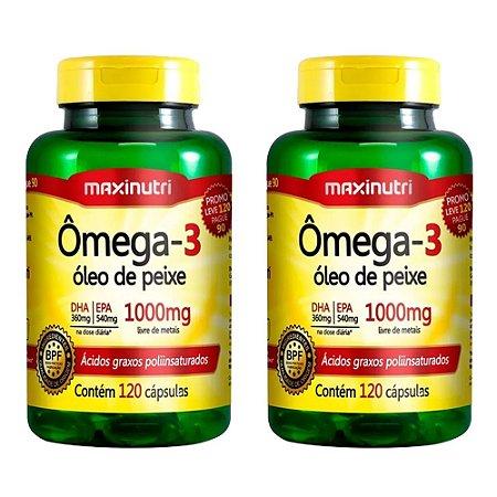 Ômega 3 - 2 unidades de 120 cápsulas - Maxinutri