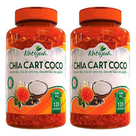 Kit ChiaCartCoco Óleo De Chia Cártamo +Coco Katigua 240 Cáps