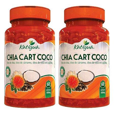 Kit ChiaCartCoco Óleo De Chia Cártamo +Coco Katigua 120 Cáps