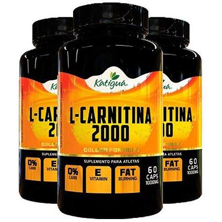 L-Carnitina 2000 - 3 unidades de 60 Cápsulas - Katigua Sport