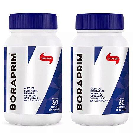 Kit Boraprim Vitafor Óleo De Prímula Vitamina E 120 Cápsulas
