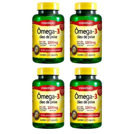 Ômega 3 - 4 unidades de 120 cápsulas - Maxinutri