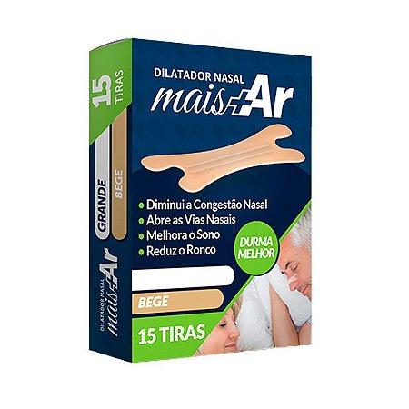 Dilatador Nasal Mais Ar - Tamanho P/M - 15 tiras - Tenlax
