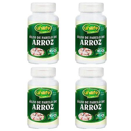 Óleo de Farelo de Arroz - 4 unidades de 60 cápsulas - Unilife