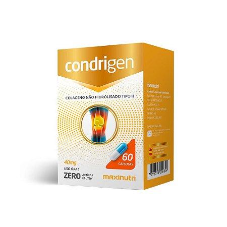 Condrigen Colágeno Tipo II - 60 Cápsulas - Maxinutri