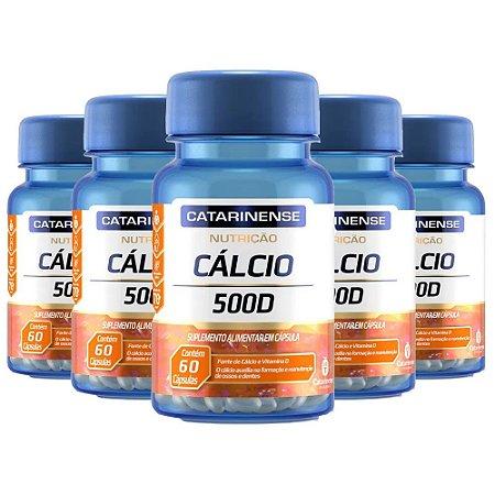 Kit Cálcio 500 Vitamina D Catarinense 400mg 300 Cápsulas