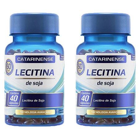 Lecitina de Soja - 2 unidades de 40 cápsulas - Catarinense