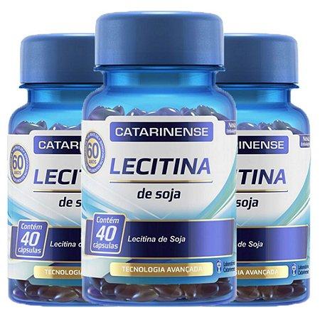 Lecitina de Soja - 3 unidades de 40 cápsulas - Catarinense