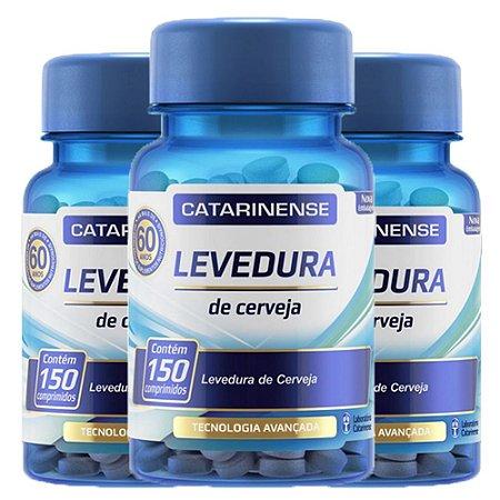 Levedura de Cerveja - 3 unidades de 150 cápsulas - Catarinense