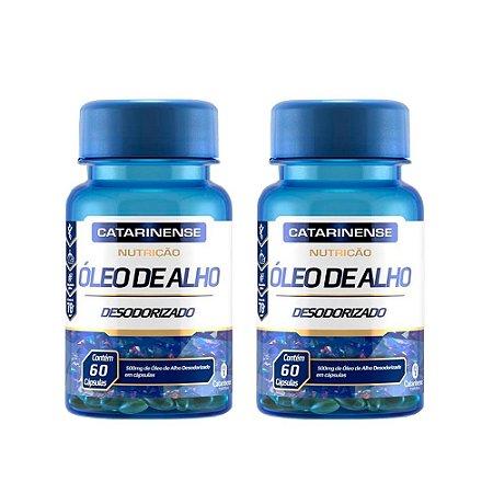 Óleo de Alho Desodorizado - 2 unidades de 60 cápsulas - Catarinense