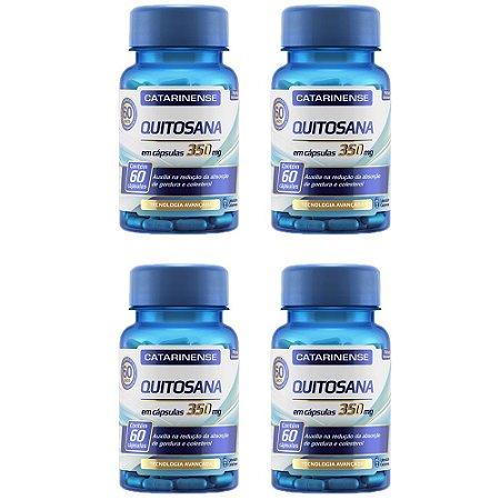 Quitosana - 4 unidades de 60 cápsulas - Catarinense