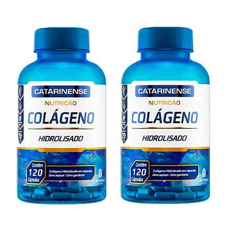 Kit Colágeno Hidrolisado Catarinense Suplemento 240 Cápsulas