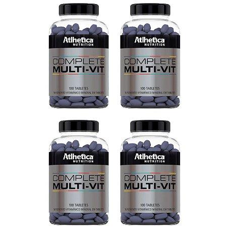 Multivitamínico Complete - 4 unidades de 100 Tabletes - Athletica