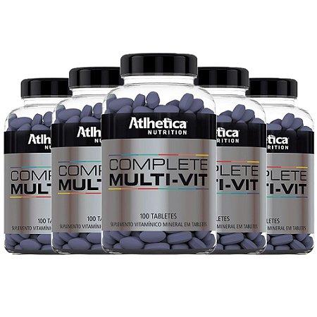 Multivitamínico Complete - 5 unidades de 100 Tabletes - Athletica