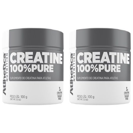 Creatina 100% Pure - 2 unidades de 100 Gramas - Atlhetica