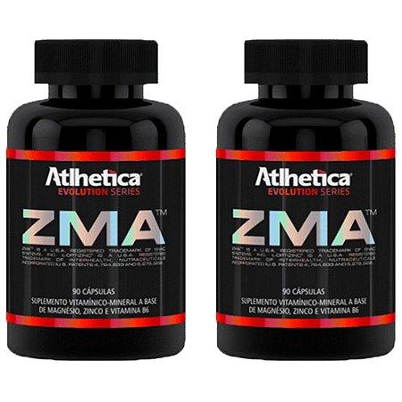 ZMA (Zinco, Magnésio e Vitamina B6) – 2 unidades de 90 cápsulas - Atlhetica