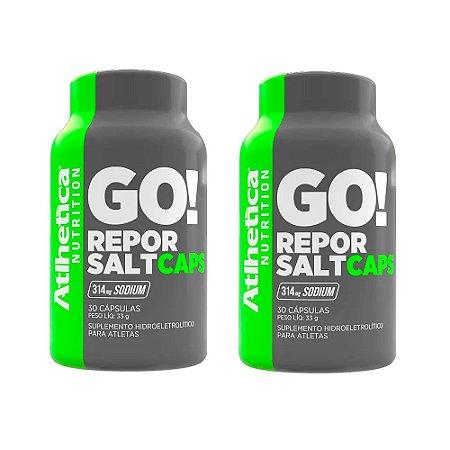 Kit Repor Salt Atlhetica Em Cápsulas Suplemento 60 Cáps