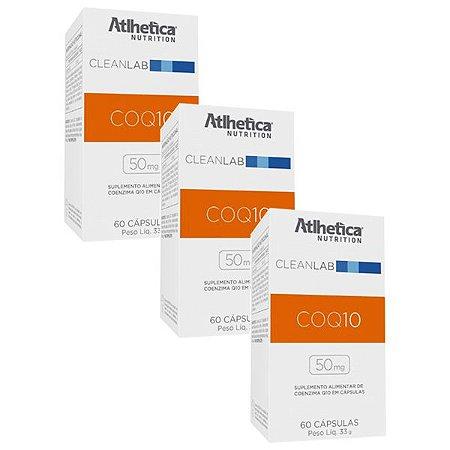 Coenzima Q10 50mg - 3 unidades de 60 cápsulas - Atlhetica