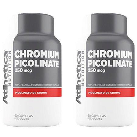 Kit Chromium Picolinate Cromo 250mcg Atlhetica 120 Cápsulas