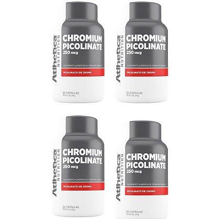 Chromium Picolinate Cromo 250mcg - 4 unidades de 60 Cápsulas - Atlhetica