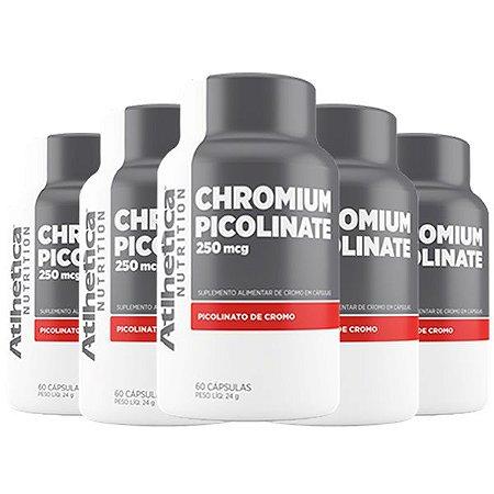 Chromium Picolinate Cromo 250mcg - 5 unidades de 60 Cápsulas - Atlhetica