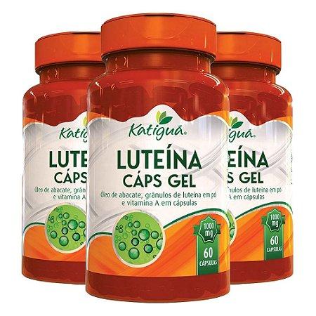 Luteína com Vitamina A - 3 unidades de 60 Cápsulas - Katigua