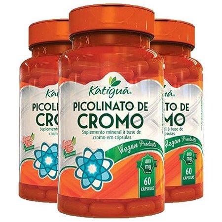 Picolinato de Cromo - 3 unidades de 60 cápsulas - Katigua