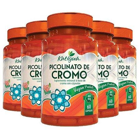 Picolinato de Cromo - 5 unidades de 60 cápsulas - Katigua