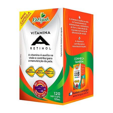 Vitamina A Retinol - 120 Cápsulas - Katigua
