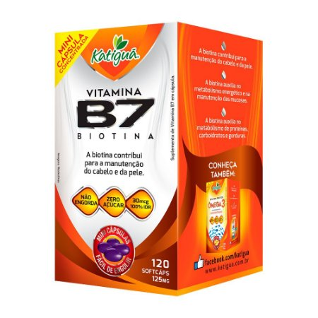 Vitamina B7 Biotina - 120 Cápsulas - Katigua