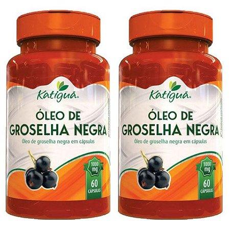 Óleo de Groselha Negra - 2 unidades de 60 Cápsulas - Katigua