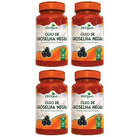 Óleo de Groselha Negra - 4 unidades de 60 Cápsulas - Katigua