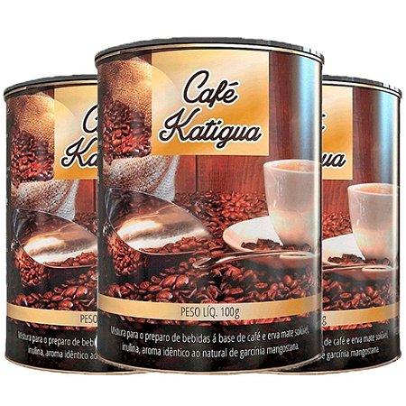 Café com Erva Mate - 3 unidades de 100 Gramas - Katigua