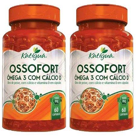 Ossofort (Ômega 3 + Cálcio D) - 2 unidades de 60 Cápsulas - Katigua