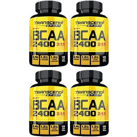 BCAA 2400 2:1:1 - 4 unidades de 120 Cápsulas - Katigua Transcend Sport