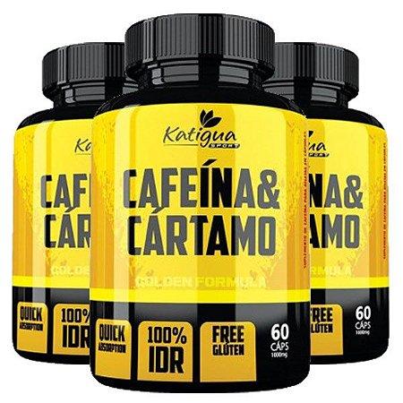 Kit Cafeína Com Óleo De Cártamo Katigua Sport 180 Cápsulas